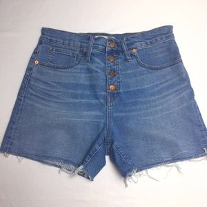 Madewell Womens 28 Cut Off Booty Shorts